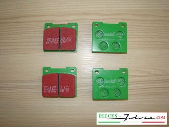 Set of 4 rear brakes pad EBC BRAKES GREENSTUFF for lancia Fulvia serie 2-3 all models