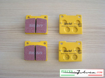 Set of 4 rear brakes pad EBC BRAKES YELLOWSTUFF for lancia Fulvia serie 2-3 all models