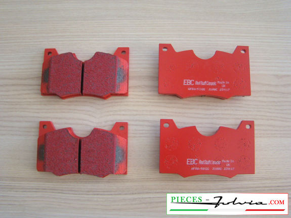 Set of 4 front brakes pads EBC BRAKES REDSTUFF for lancia Fulvia serie 2-3 all models