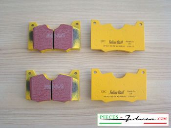 Set of 4 front brakes pad EBC BRAKES YELLOWSTUFF for lancia Fulvia serie 2-3 all models