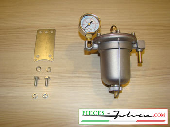 Filter pressure regulator KING, aluminium jar 67mm with mano Lancia Fulvia all models