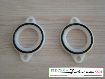 Pair of flexible flanges for carburettors WEBER 40