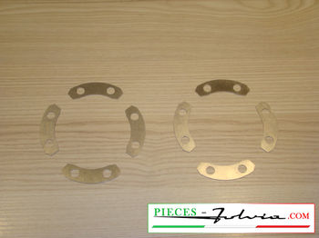 Set of retainers for mounting screws FRONT discs Lancia Fulvia all models