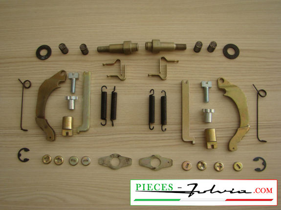 Set of mechanism for brake shoes Lancia Fulvia serie 2 and 3