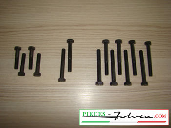 Set of screws for fixing camshaft caps Lancia Fulvia all models