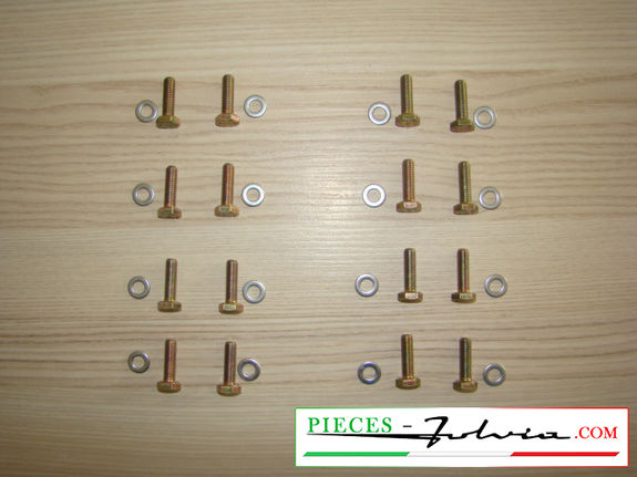 Screw set for fixing Dunlop calipers Lancia Fulvia series 1 all models