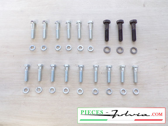 Set of screws for fixing cylinder block on crankcase Lancia Fulvia 1300