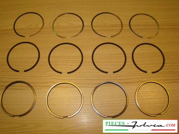 Set piston rings Ø 78.00 (5th repair dimension) Lancia Fulvia 1300