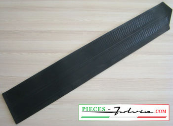 Front lateral left side rubber carpet for Lancia Fulvia coupe serie 1