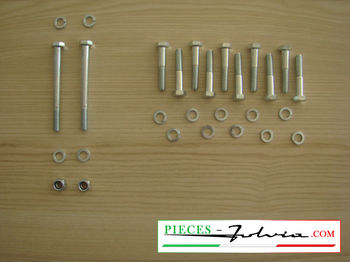 Set of screws for fixing gearbox on engine Lancia Fulvia all models