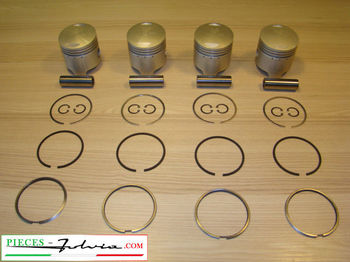 Complete Piston set Ø82.40 (2nd repair dimension) Lancia Fulvia 1600