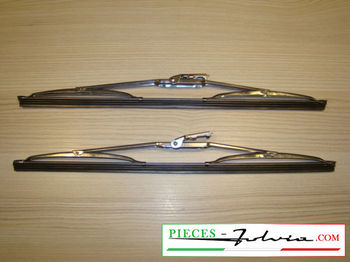 Pair of stainless steel wiper Blade 35cm Lancia Fulvia
