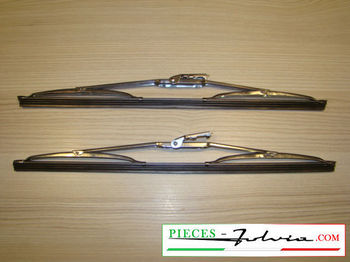 Pair of stainless steel wiper Blade 33cm Lancia Fulvia