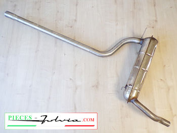 Central exhaust tube INOX Fulvia COUPE serie 2 and 3, 1300 and 1600