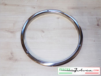 Stainless steel hubcap for steel rim Lancia Fulvia all models