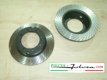 Gr3 REAR brake discs set Lancia Fulvia serie 2 and 3 all models