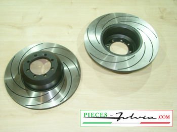 Gr2 FRONT brake discs set Lancia Fulvia serie 2 and 3 all models