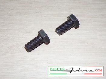 Pair of ADAPTABLE screws fixing pulley camshafts Fulvia all models