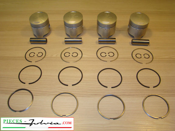 Complete piston set Ø 77.4 (2nd repair dimension) Lancia Fulvia 1300
