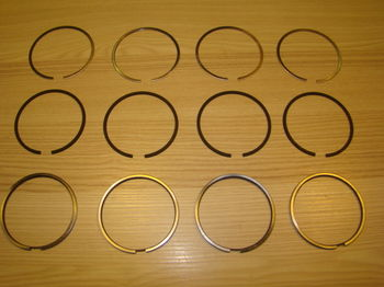 Set piston rings Ø 77.2 (1st repair dimension) Lancia Fulvia 1300
