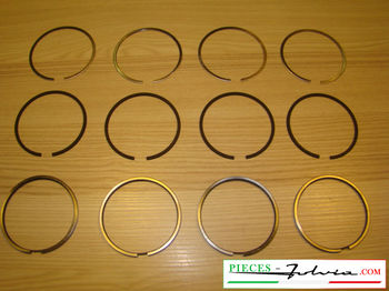 Set piston rings Ø 77.6 (3rd repair dimension) Lancia Fulvia 1300