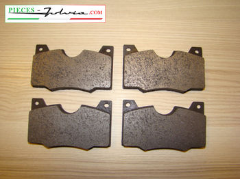 Front brake pads set Lancia Fulvia serie 2 and 3 all models