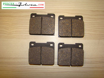 REAR brake pads set Lancia Fulvia serie 2 and 3 all models