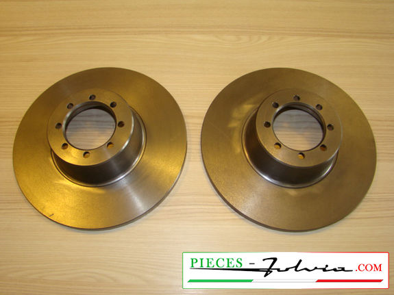 Front brake discs set Lancia Fulvia serie 1 all models