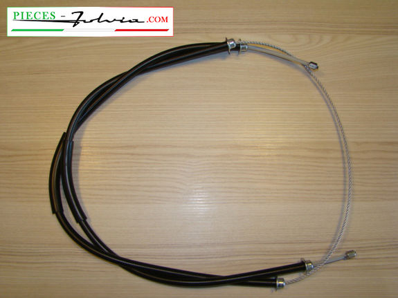 Hand brake cable (cylindrical ring tips) Lancia Fulvia serie 2 and 3 all models