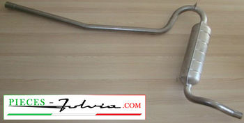 Central exhaust tube Fulvia 1200 - 1300 COUPE serie 1 all models