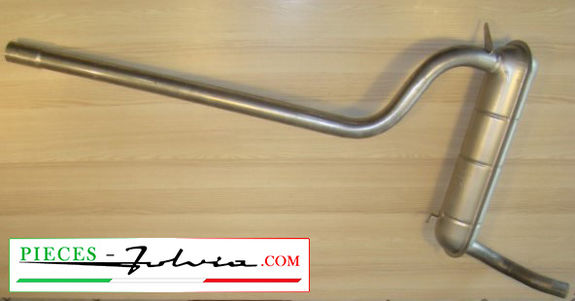 Central exhaust tube Lancia Fulvia COUPE serie 2 and 3, 1300 and 1600