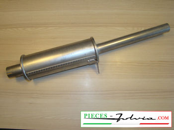Exhaust silencer Lancia Fulvia Coupe serie 2 and 3, 1300 and 1600