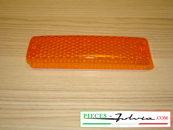 FRONT turn signal light lense (ORANGE color) Fulvia Coupé serie 2 and 3