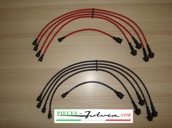 Ignition cables high voltage in silicone for Lancia Fulvia all models