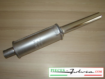 Exhaust silencer chromed Lancia Fulvia Coupe serie 2 and 3, 1300 and 1600 all models