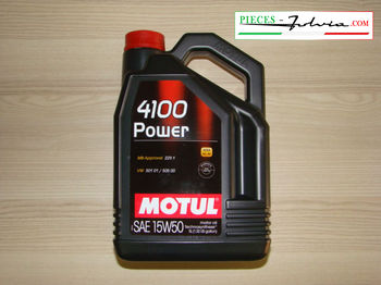 Motor oil MOTUL 4100 POWER 15W50, 5 liters