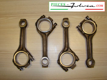 Set of 4 used connecting rods for Lancia Fulvia 1300 all models