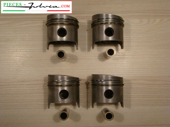 Set of 4 used pistons for Lancia Fulvia 1300 all models