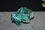Dioptase, ensemble de cristaux.
