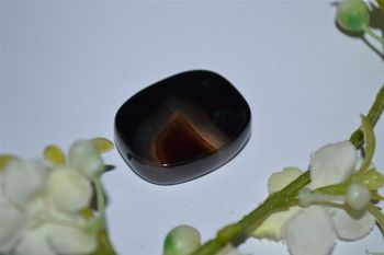 Onyx, pierre plate, Inde.