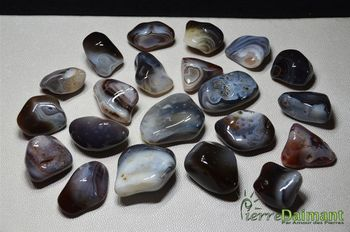Agate, 1 pierre roulée,  Botswana