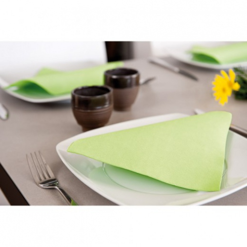 Serviette Double Point® 20x20cm cocktail VERT ANIS PASTEL - Carton de 2400 unités
