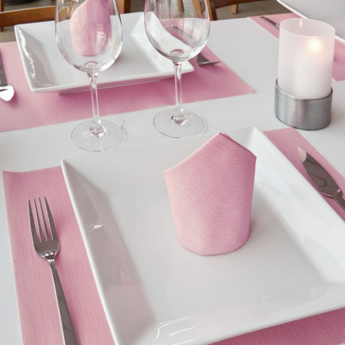 Set de table Soft 30x40 cm texture Dry Cotton FUCHSIA - carton de 800 unités