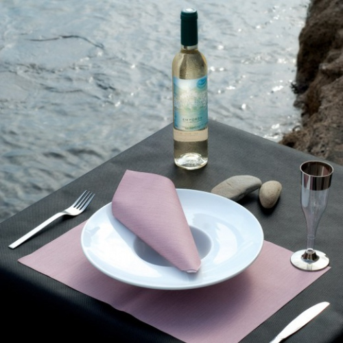 Set de table Soft 30x40 cm texture Dry Cotton PARME - carton de 800 unités