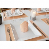 Set de table Soft 30x40 cm texture Dry Cotton MANDARINE - carton de 800 unités