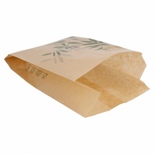 Sac burger n°26 Feel Green 12 + 7 x 18 cm - pack de 500 unités