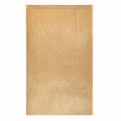 Sachet plat 26+9x38cm Or - Kraft vergé 60 g/m² - Pack de 250