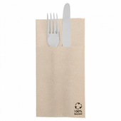 Serviette Kangourou Double Point® 39x40cm Beige FEEL GREEN - Carton de 1400 unités