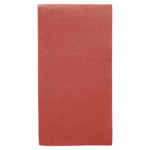 Serviette Double Point® 40x40cm pliage 1/8 BORDEAUX - Carton de 1300 unités