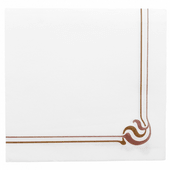 Serviette Double Point® 40x40cm MAXIM Marron & Ocre - Carton de 1200 unités